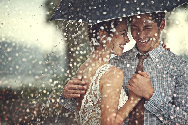 雨景婚纱照
