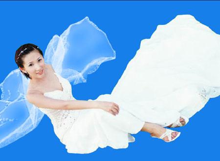 第6课 ps复杂背景中抠出婚纱 - 实例抠图教程 - 好知网