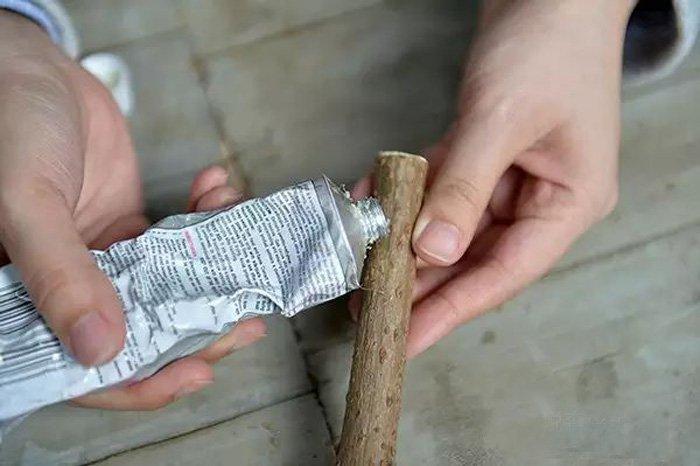 树枝制作动物手工