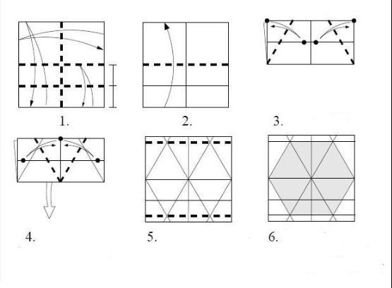 l5如何用正方形纸和a4纸(长方形)折六边形
