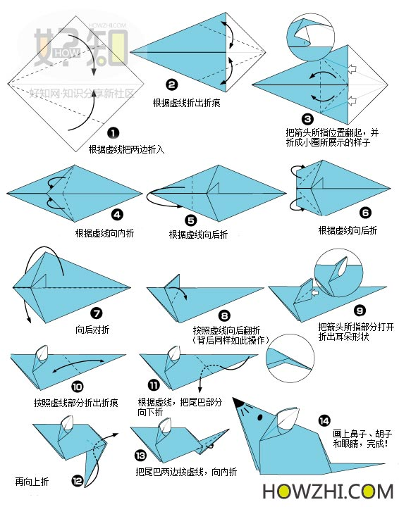 l1十二生肖之 鼠 折纸