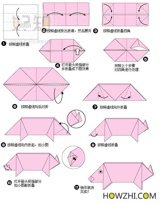 l12十二生肖之 猪 折纸