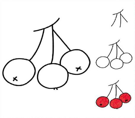 第4课 水果 樱桃 教宝宝画画