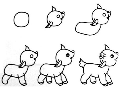 动物-小鹿 - 教宝宝画画
